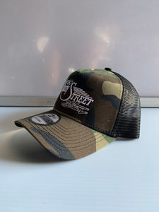 Camo Main Street Station Snap Back Hat