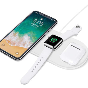 3 in 1 Qi Wireless Fast Charger Pad - Esell - Shopping Made Easy