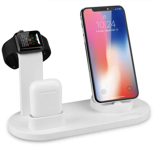 3 in 1 Charging Stand for Iphone, AirPods, and Iwatch Type C charger 10 Watts of Power - Esell - Shopping Made Easy