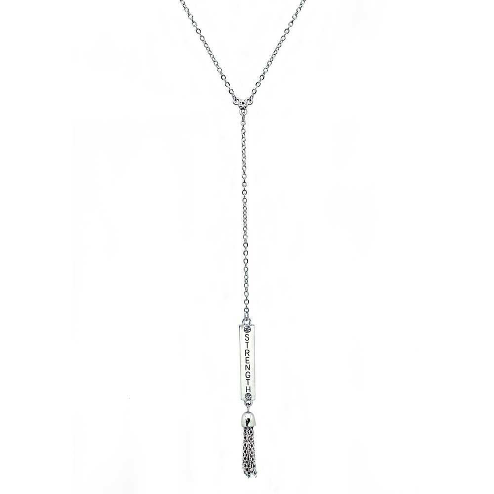 STRENGTH Bar Necklace