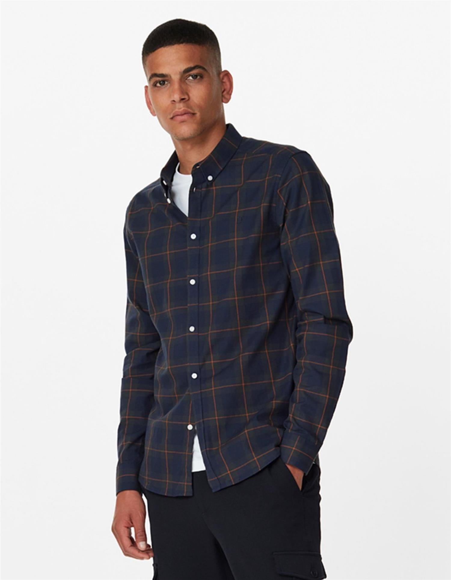 Hubert Checked Flannelshirt