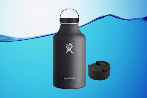 HYDRO FLASK 64 OZ INSULATED GROWLER WATER BOTTLE WITH FLEX CAP + FLIP CAP