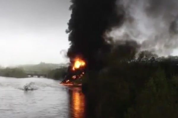 On April 30th, tankers on a train carrying Bakken crude oil derailed and exploded in downtown Lynchburg, Virginia. Oil spilled into the James River, causing the state capital of Richmond to switch drinking-water intakes to a backup supply. Hundreds of people had to be evacuated from their homes.