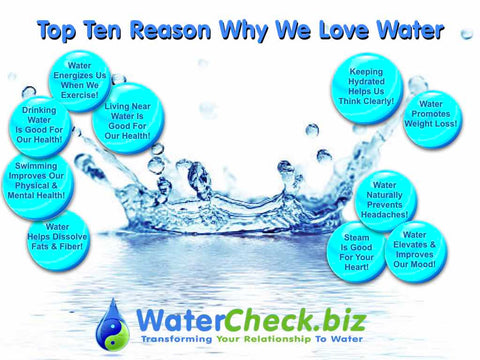 Top Ten Reasons Why We Love Water