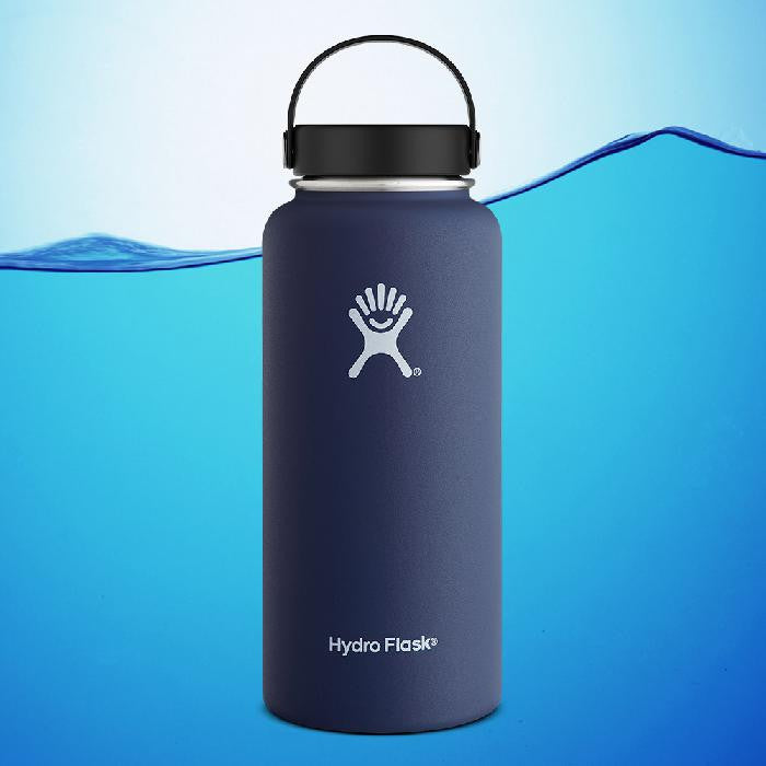 Hydro Flask 32 Oz Insulated Stainless Steel Water Bottle Cobalt Blue With Flex Cap