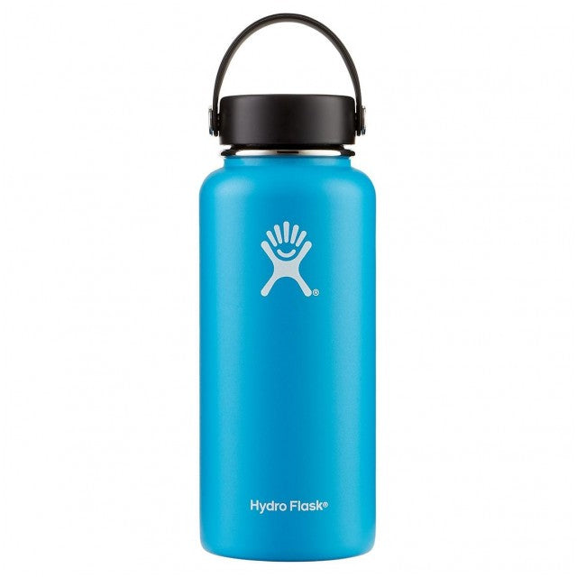 Hydro Flask 32 Oz Insulated Stainless Steel Water Bottle Pacific Blue With Flex Cap