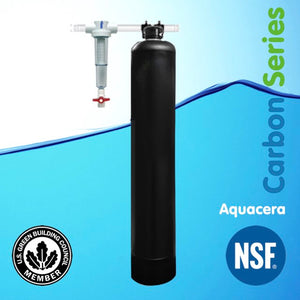 Aquacera Pure Water CarbonSorb CF8 Whole House Water Filter - Black