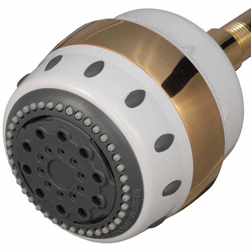 Sprite AR5-GT Royale 5 Setting White With Gold Trim All In One Massage Shower Filter - WaterCheck.biz