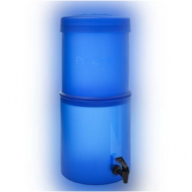 Propur Big 2 Blue Gravity Fed Fluoride Water Filter Purifier With (2) 7 inch ProOne G2.0 Filters