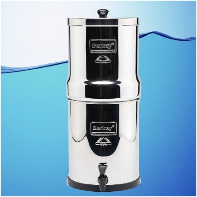 Big Berkey Gravity Fed Stainless Steel Water Filter Purifier With 2 Black Berkey Filters