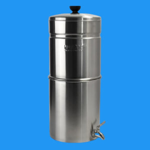 Propur Big Plus Brushed Stainless Gravity Fed Fluoride Water Filter Purifier With (3) 7 inch ProOne G2.0 Filters