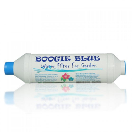 Boogie Blue Classic Garden Hose Water Filter Removes Chlorine And