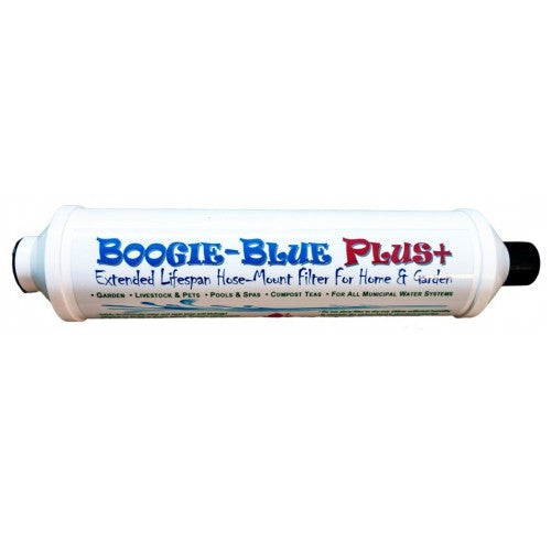 Boogie Blue PLUS Garden Hose Water Filter Removes Chlorine And