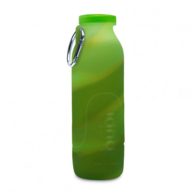 Bubi 35 Oz Collapsible Eco Silicone Water Bottle - Camo Green