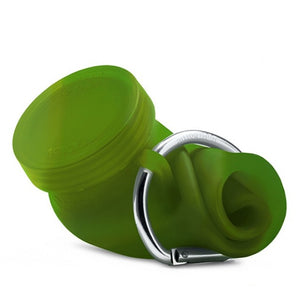 Bubi 35 Oz Collapsible Eco Silicone Water Bottle With Straw Lid - Camo Green