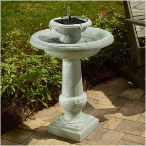 Smart Solar Chatsworth 2-Tier Solar On Demand Fountain - Weathered Stone