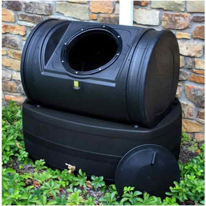 Good Ideas Composter With Rain Barrel Wizard Hybrid Kit - Black