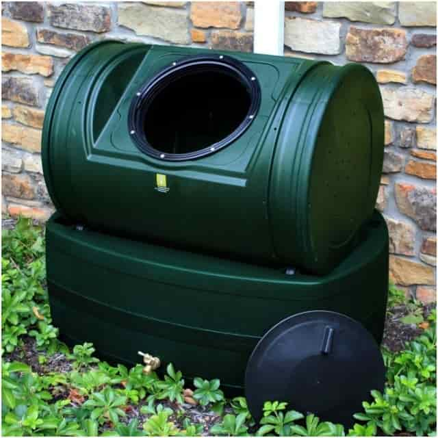 Good Ideas Composter With Rain Barrel Wizard Hybrid Kit - Green