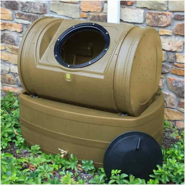 Good Ideas Composter With Rain Barrel Wizard Hybrid Kit - Khaki