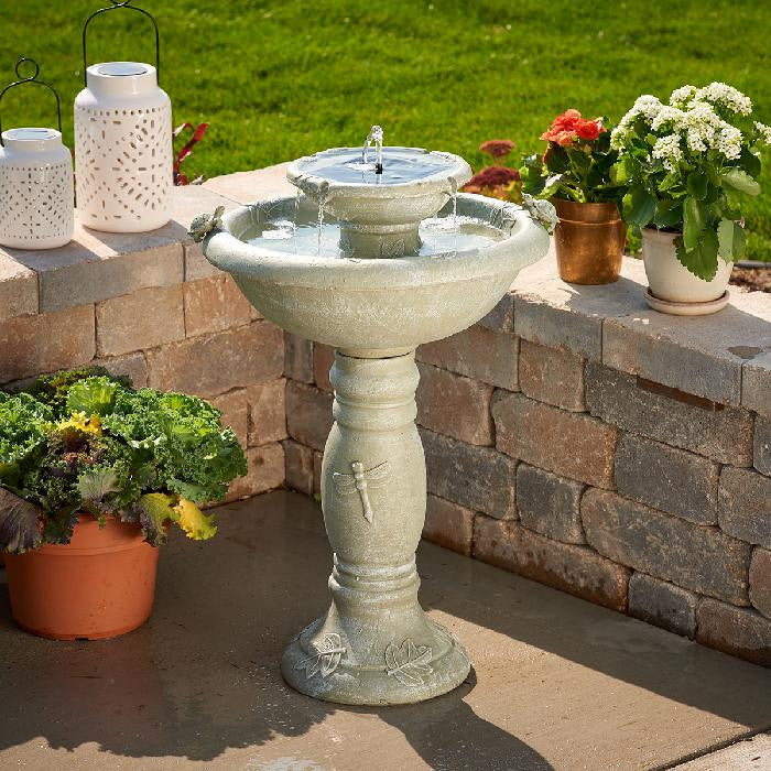 Smart Solar Country Gardens 2-Tier Solar On Demand Fountain - WaterCheck.biz
