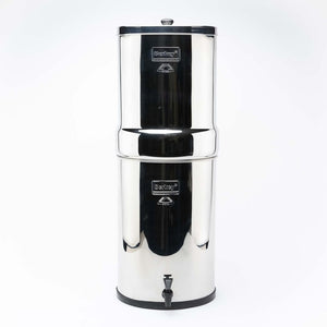 Crown Berkey Gravity Fed Stainless Steel Water Filter Purifier With 4 Black Berkey Filters