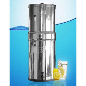 Crown Berkey Gravity Fed Stainless Steel Water Filter Purifier With 8 Black Berkey Filters - WaterCheck.biz