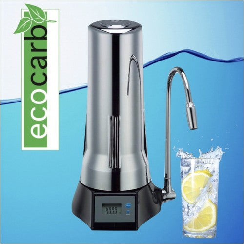 eco carb counter top fluoride water filter purifier chrome - Water Filter