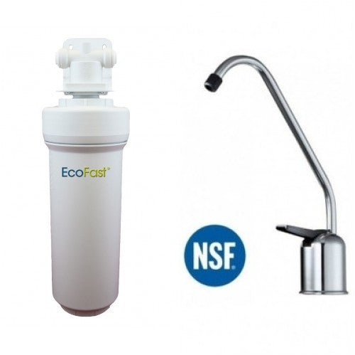 Aquacera EcoFast XL EF300 Direct Connect Under Sink Filter System With Chrome Faucet