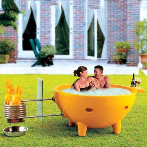 Alfi Fire Hot Dutch Tub Outdoor Wood Fired Hot Tub - Orange - WaterCheck.biz