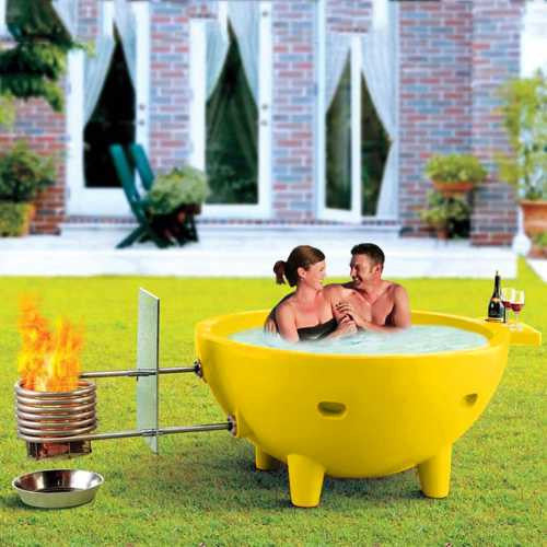 Alfi Fire Hot Dutch Tub Outdoor Wood Fired Hot Tub - Yellow - WaterCheck.biz