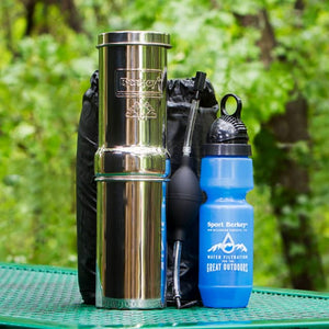 Go Berkey Kit Portable Water Filter Purifier With Sport Berkey
