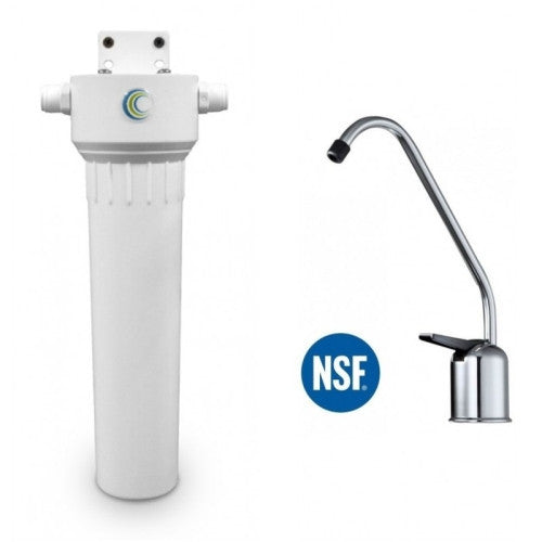 Aquacera HIP W9332530 Undersink Fluoride Water Filter System With Cerametix Cartridge + Chrome Faucet - WaterCheck.biz