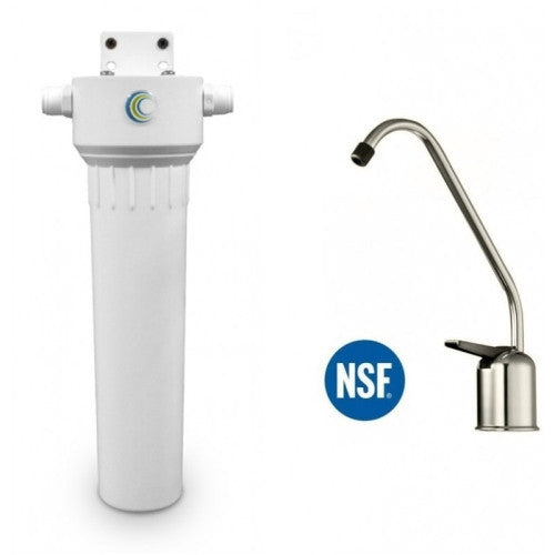 Aquacera HIP W9332530 Undersink Fluoride Water Filter System With Cerametix Cartridge + Brushed Nickel Faucet - WaterCheck.biz