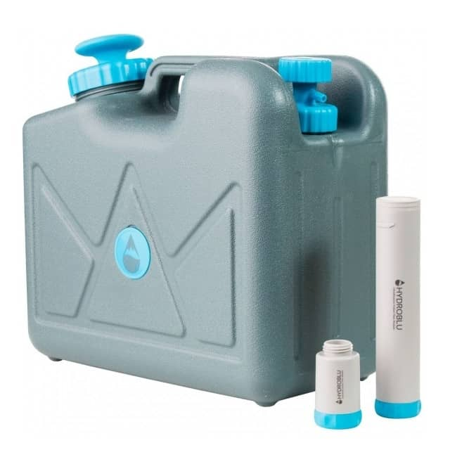 HydroBlu Jerrycan Water Filter Purifier Bacteria Free Package - 10,000 Gallons