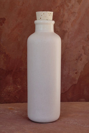 Earth-In Canteen Revolve Ceramic Water Bottle 24 Oz - Bone White