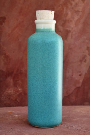 Earth-In Canteen Revolve Ceramic Water Bottle 24 Oz - Sea Glass Turquoise