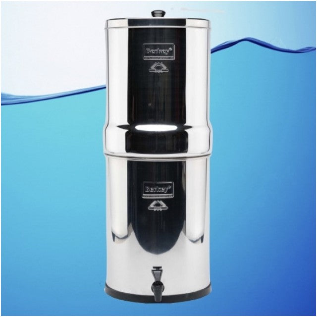 Imperial Berkey Gravity Stainless Steel Water Filter Purifier With 2 Black Berkey Filters