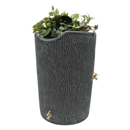 Good Ideas Impressions Bark 50 Gallon Rain Saver Barrel - Grey - WaterCheck.biz