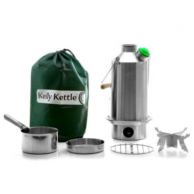 Kelly Kettle Stainless Steel Camping Water Kettle Base Camp Basic Kit Large