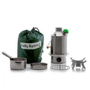 Kelly Kettle Stainless Steel Camping Water Kettle Scout Basic Kit Medium