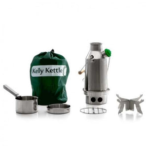 Kelly Kettle Stainless Steel Camping Water Kettle Trekker Basic Kit Small
