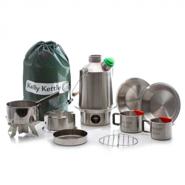 Ultimate Kelly Kettle Stainless Steel Camping Water Kettle Scout Kit Medium