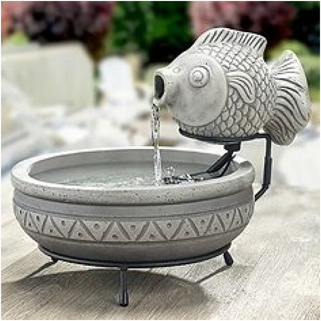Smart Solar Marin Solar Koi Fish Bird Bath Fountain