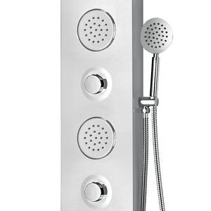 PULSE ShowerSpas 1044-SSB Moana ShowerSpa Brushed Stainless Steel Shower Panel