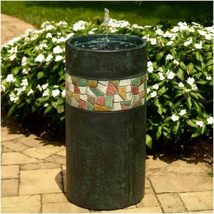 Smart Solar Murano Column Solar On Demand Bird Bath Fountain