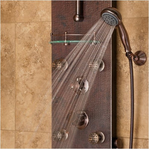 PULSE ShowerSpas 1018 Navajo ShowerSpa Hammered Copper ORB Shower Panel