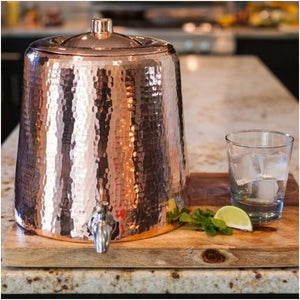 Sertodo Ayurvedic Copper Niagara Water Dispenser With Lid 2.5 Gal