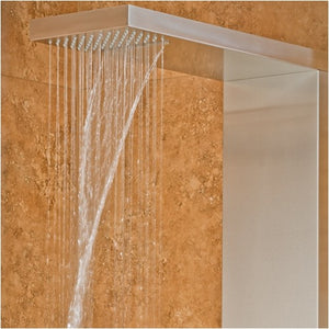 PULSE ShowerSpas 1035 Oahu ShowerSpa Matte Brushed Stainless Steel Shower Panel