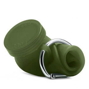 Bubi 35 Oz Collapsible Eco Silicone Water Bottle - Olive Green