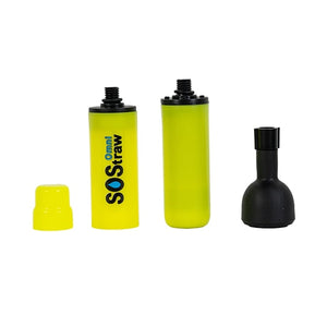 Seychelle Omni SOS Water Filter Purifier Straw Yellow With 24 Oz Water Bottle